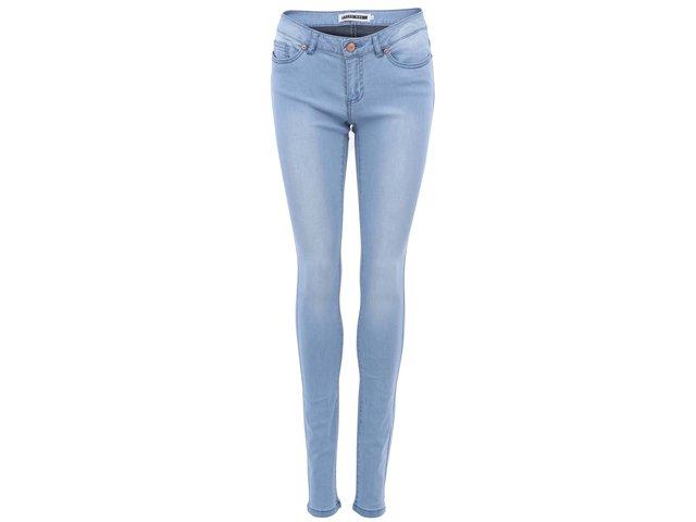 Světle modré slim džíny s vyšším pasem Noisy May Eve