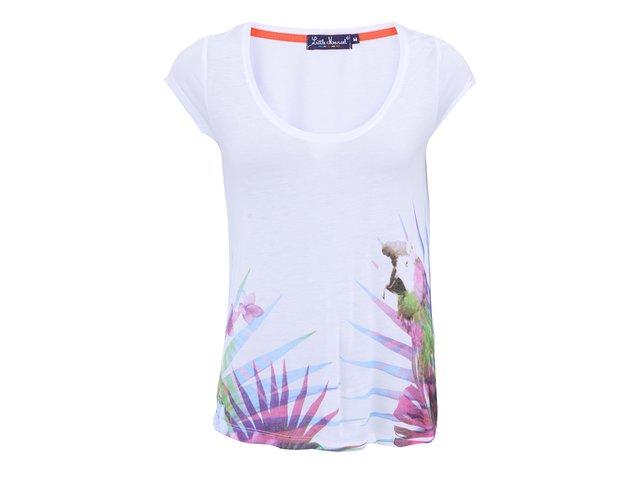 Bílé triko s motivem trávy s krátkými rukávy Little Marcel Tinoal