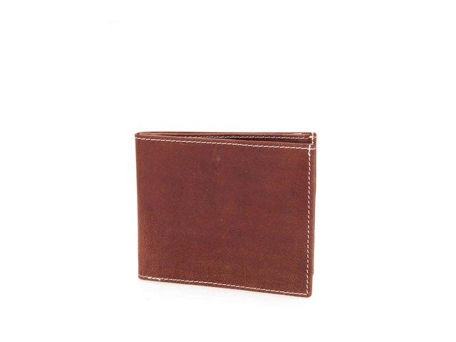 Hnědá kožená peněženka Lucleon English