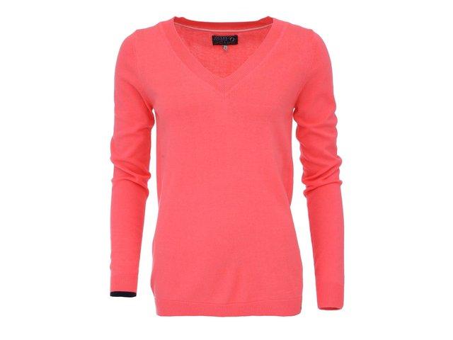 Sytě růžový svetr s véčkovým výstřihem Tom Joule Tatum