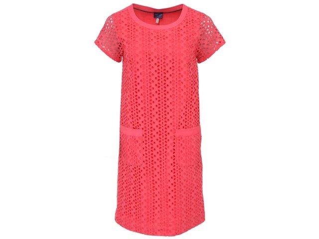 Růžové šaty s vyšívaným perforovaným vzorem Tom Joule Madeline