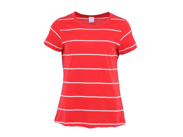 Červené pruhované triko s krátkými rukávy Vero Moda Lise