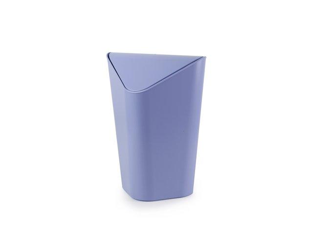Světle modrý rohový odpadkový koš Umbra