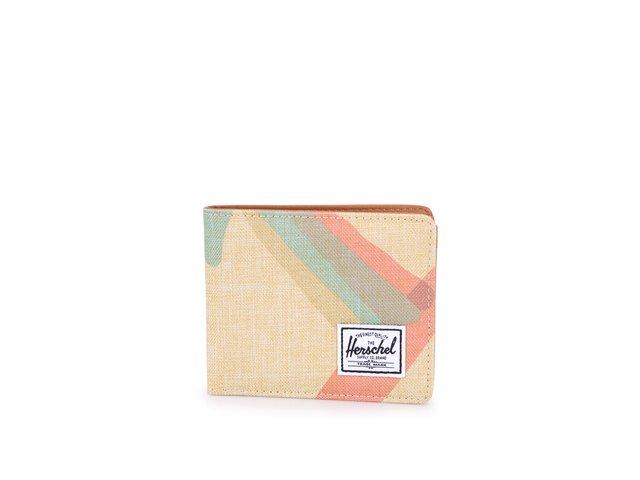 Béžová peněženka s barevným motivem Herschel Hank
