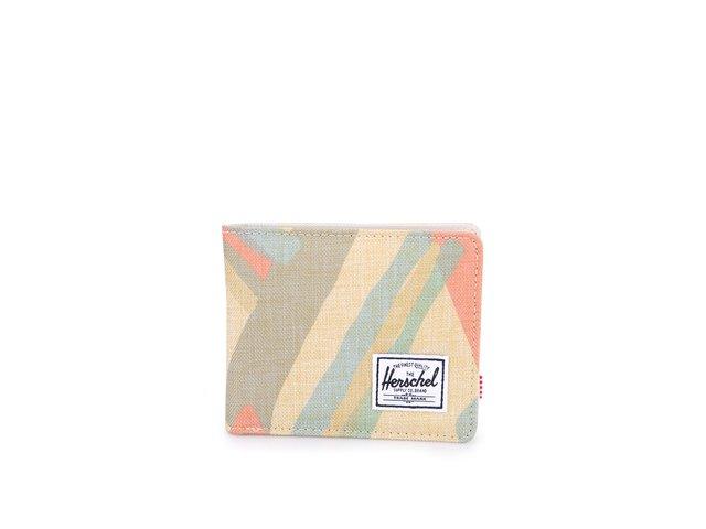 Běžová peněženka s barevným motivem Herschel Roy Coin