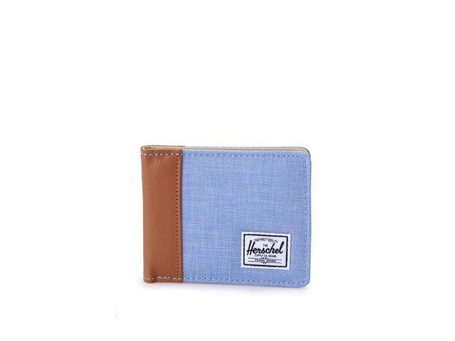 Hnědo-modrá peněženka Herschel Edward