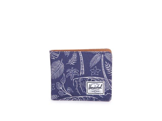 Modrá peněženka s palmovým vzorem Herschel Hank Coin