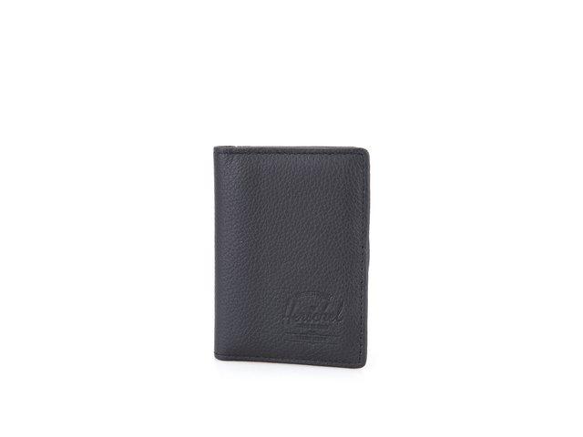 Černá kožená peněženka Herschel Gordon