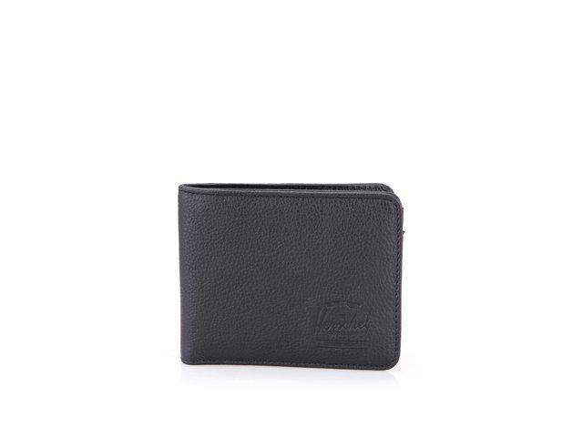 Černá kožená peněženka Herschel Hank