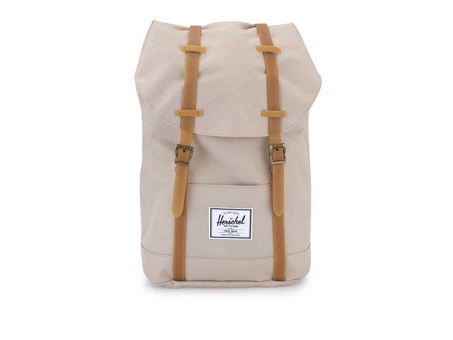 Béžový batoh s přezkami Herschel Retreat