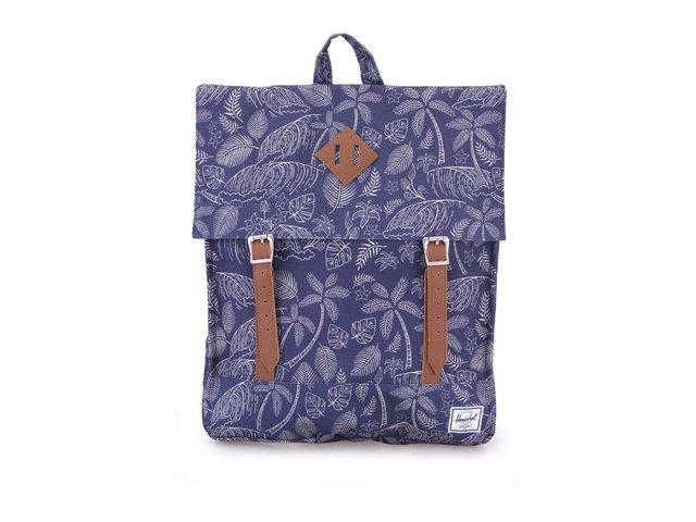 Modrý obdélníkový batoh s palmovým motivem Herschel Survey Kingston