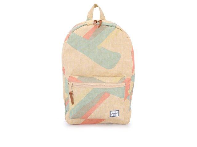 Béžový batoh s barevným motivem Herschel Settlement