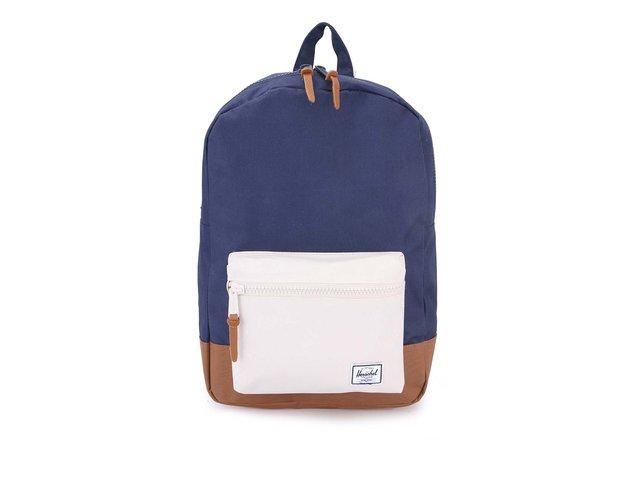 Modrý batoh s krémovou kapsou Herschel Settlement Mid-Volume