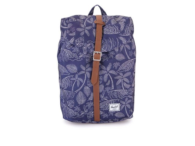 Modrý batoh s palmovým potiskem Herschel Post Kingston