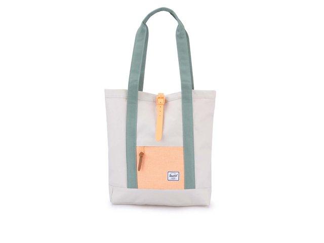 Krémová taška přes rameno se zelenými uchy Herschel Market