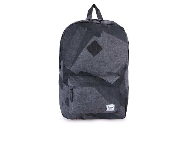 Šedý batoh s černým motivem Herschel Heritage