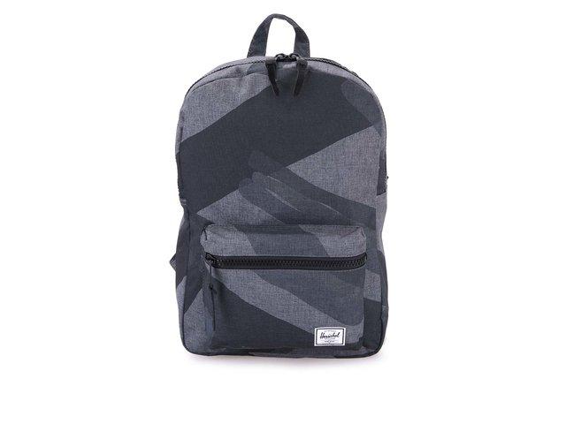 Tmavě šedý batoh s černým vzorem Herschel Settlement Mid-Volume