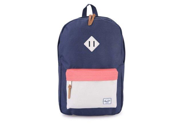 Tmavě modrý batoh s krémovou kapsou Herschel Heritage