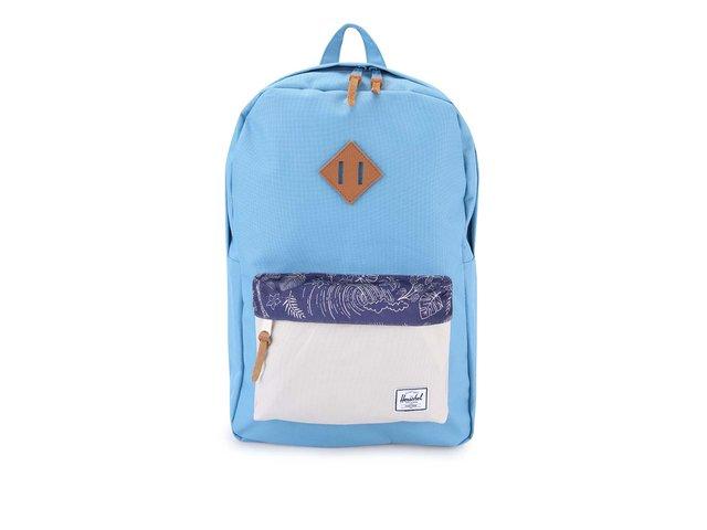 Modrý batoh s krémovou kapsou Herschel Heritage