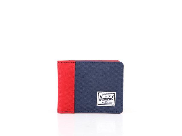Červeno-modrá peněženka Herschel Edward