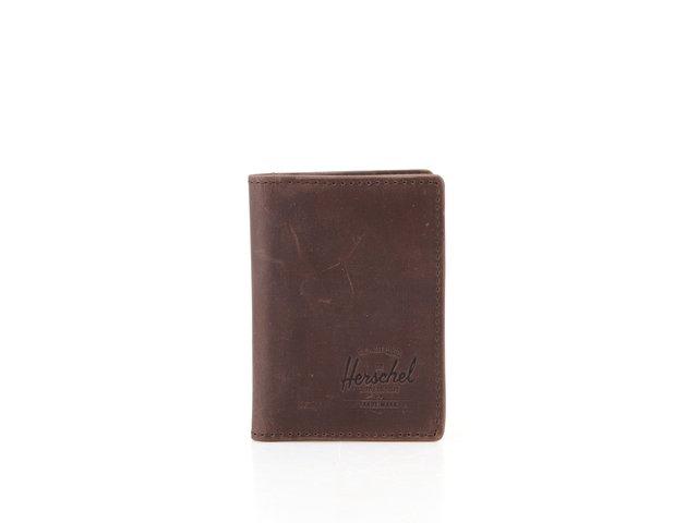 Hnědá kožená peněženka Herschel Gordon
