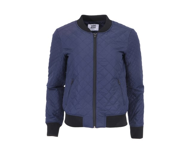 Tmavě modrá prošívaná bunda na zip Vero Moda Venice
