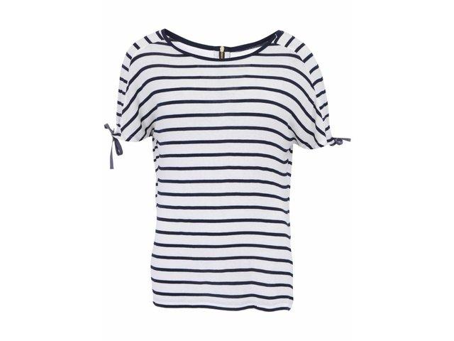 Bílé tričko s tmavě modrými pruhy Vero Moda Etly