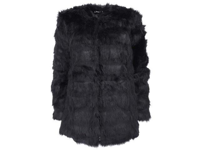 Černý kabátek z umělé kožešiny Lavand