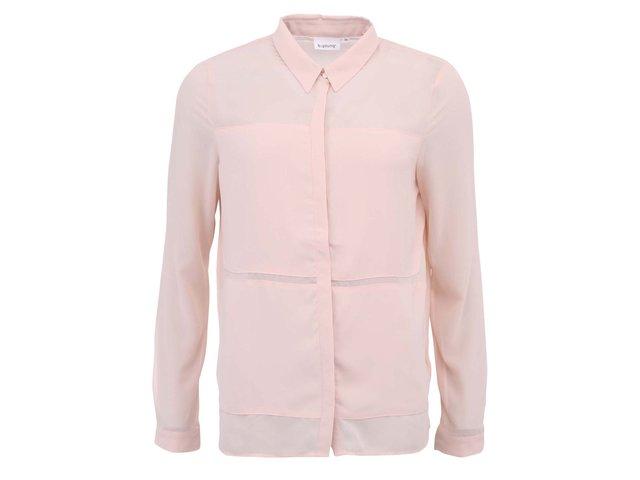 Světle růžová košile b.young Hallis