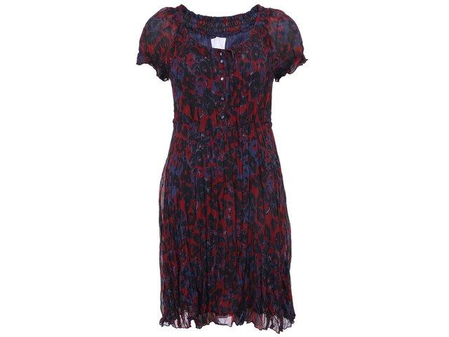 Modro-vínové šaty s nařasením b.young Farah