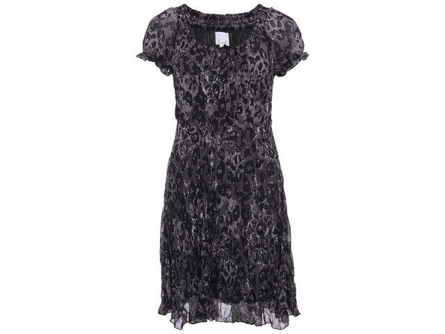 Černé šaty s nařasením b.young Farah