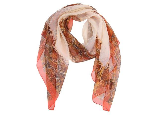 Béžový šátek s hadím vzorem INVUU London