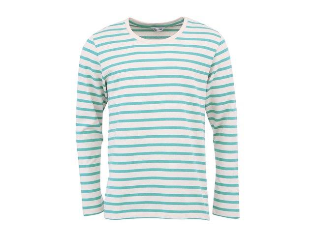 Krémové triko s tyrkysovými pruhy ONLY & SONS Mar