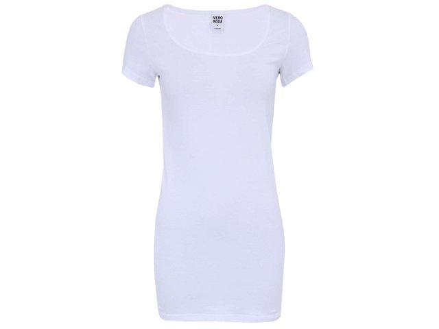 Bílé delší triko Vero Moda Maxi My