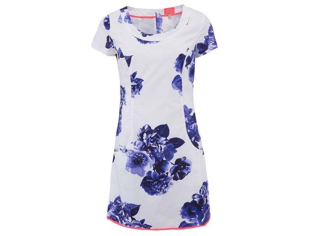 Bílé šaty s modrými květy Tom Joule Elise