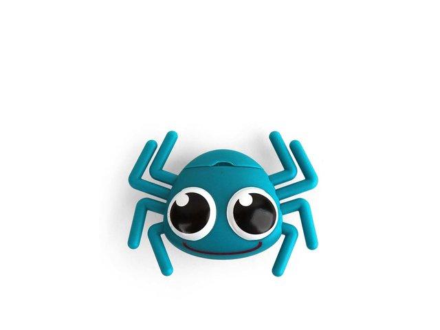 Tyrkysový zásobník na dentální nit Kikkerland Pavouk