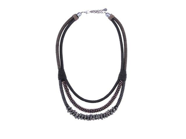 Šedo-černý náhrdelník Pieces Jombo