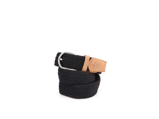 Černý pánský proplétaný pásek Faguo Belt