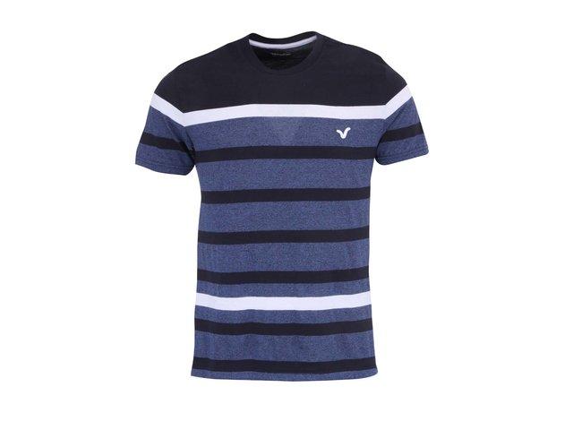 Tmavě modré pánské pruhované triko Voi Jeans Grayson
