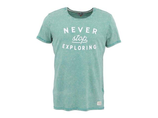 Zelené žíhané tričko s nápisem Blend