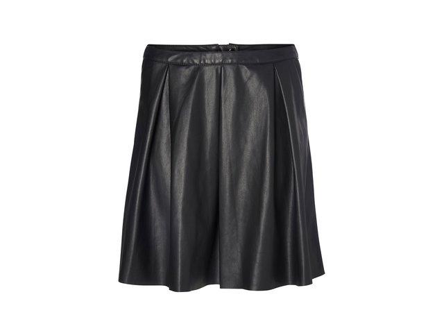 Černá koženková sukně Vero Moda Ever Butter