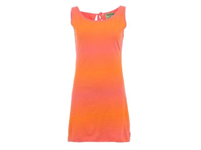 Oranžové pruhované šaty se zavazováním Tranquillo Granada