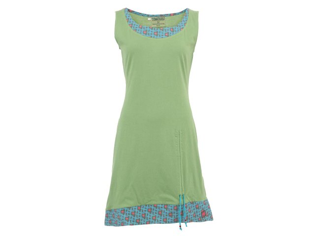 Zelené šaty se vzorovaným lemováním Tranquillo Senja