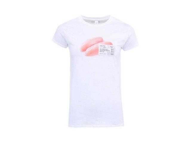 Bílé dámské tričko ZOOT Originál Kuřecí prsa