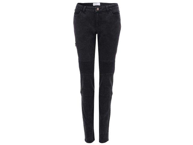 Tmavě šedé slim džíny Vero Moda Flash
