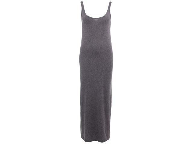 Šedé dlouhé šaty Vero Moda Nanna