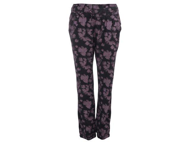 Černé dámské kalhoty s květovaným vzorem Ragwear Tense