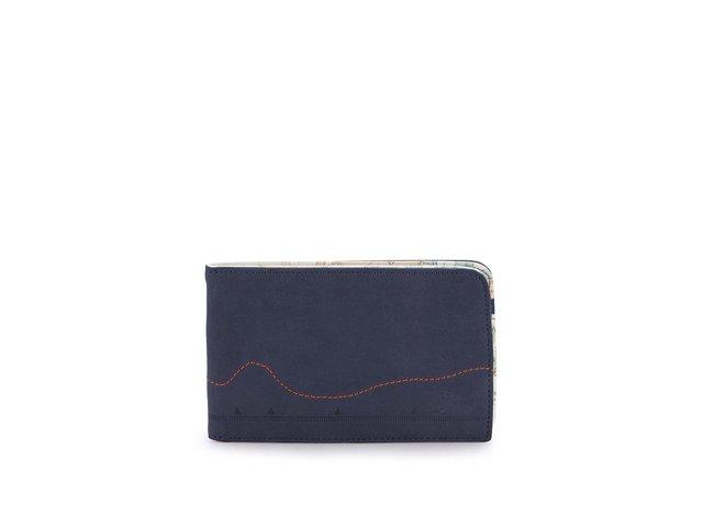 Tmavě modrá pánská cestovní peněženka Cartography
