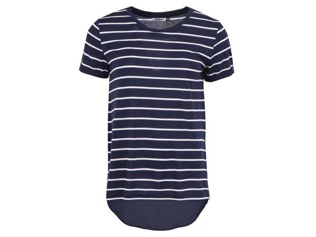 Modré pruhované tričko ONLY Maxella