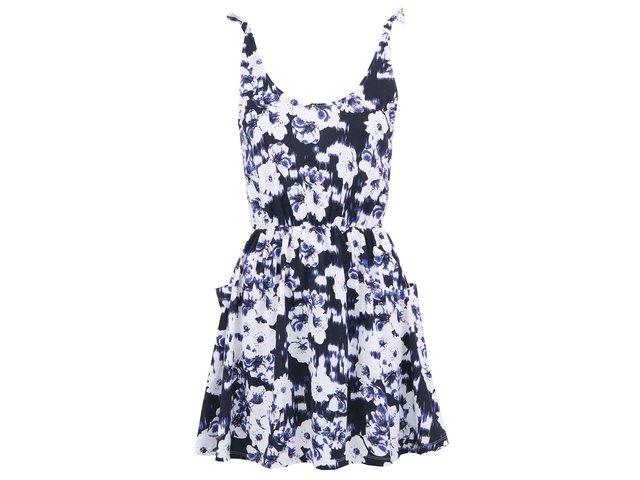 Bílo-modré šaty s kapsami ONLY Roxy